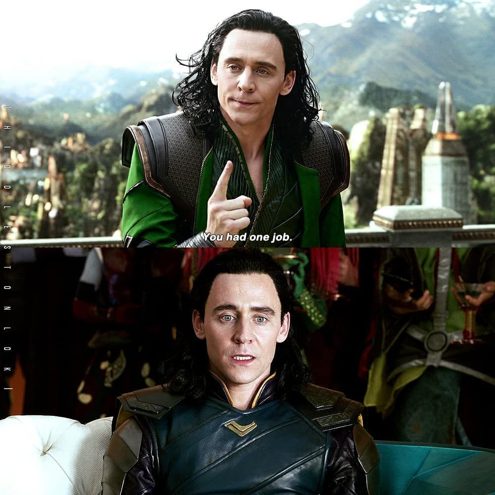 Tom Hiddleston forgetting his lines between shoots.