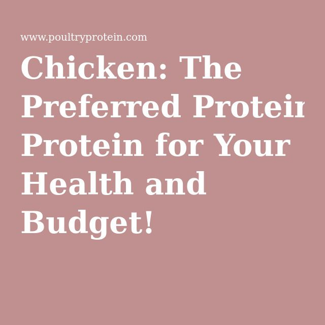 Chicken: The Preferred Protein for Your Health and Budget!