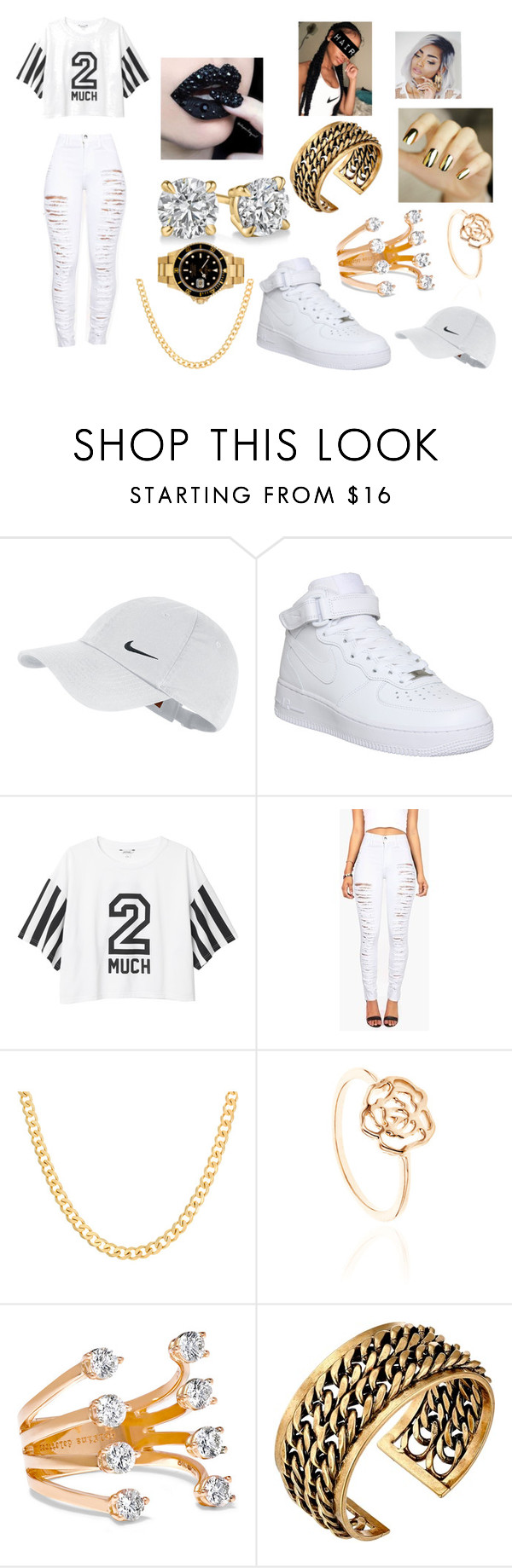 """#63 Ratchet Commandments"" by kitty900 ❤ liked on Polyvore featuring NIKE, Monki, Sterling Essentials, Delfina Delettrez, Lucky Brand and Rolex"
