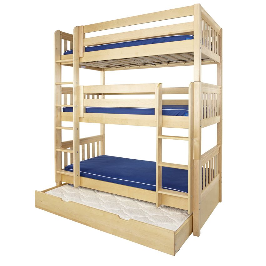 Triple Trundle Bed Wood Triple Bunk Bed Bunk Beds Triple Bunk Beds Bunk beds with trundle beds
