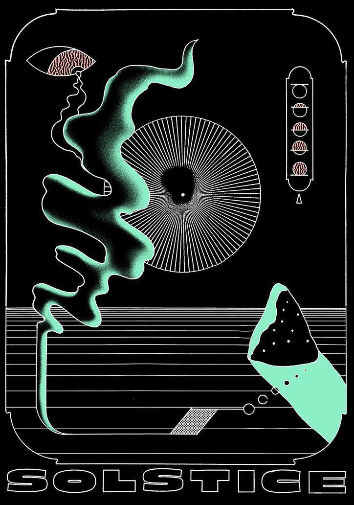 Abstract Airbrush Art 70s
