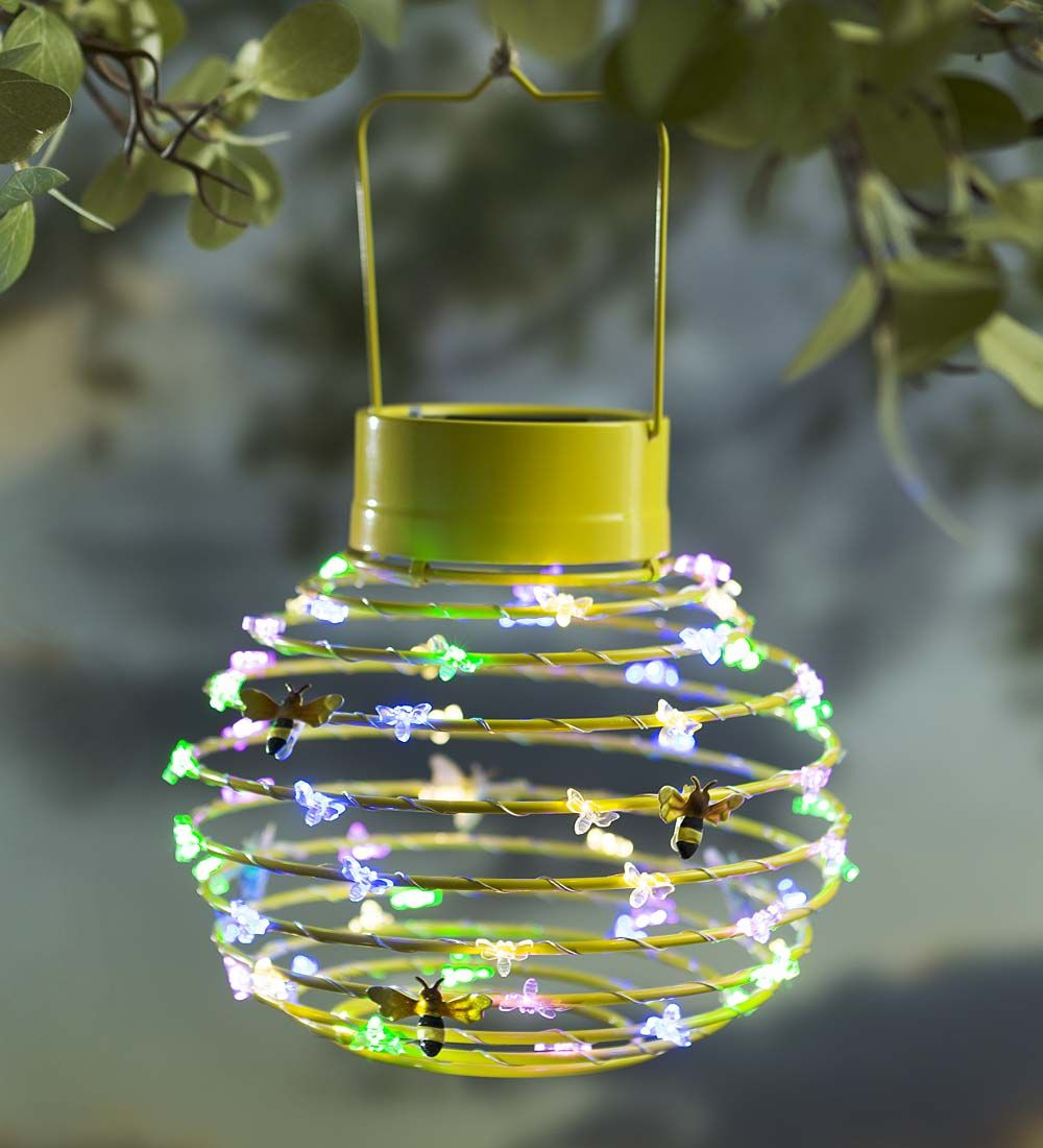 Hanging Solar Lantern Decoration Bees