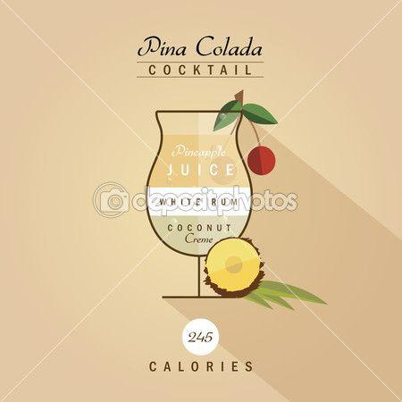 Pina Design pina colada cocktail recipe stock illustration 72573529 mood