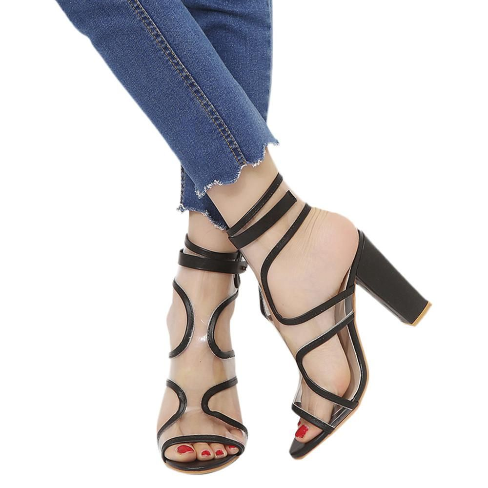 d0f9ca3d66d93 Fashion Buckle Strap Tassel Ankle High Heels Shoes | Shoe sites in ...