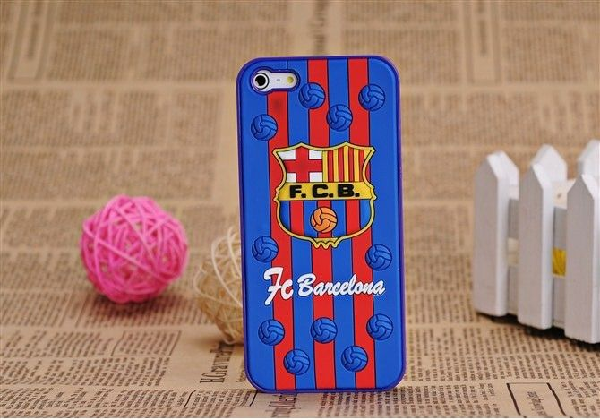 Exclusive 3D UEFA Barcelona FC Hard Case For iPhone 5S/5 for £6.99 #onselz