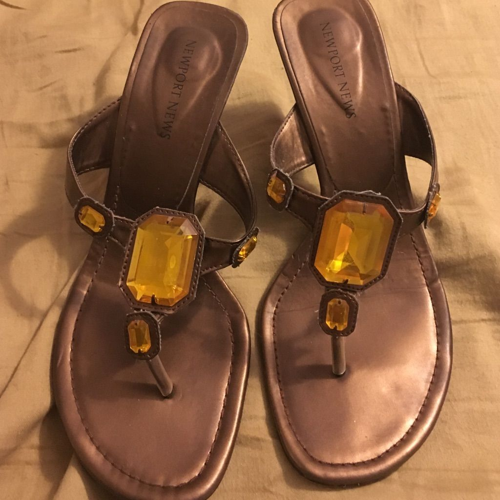 Amber Jeweled Heels