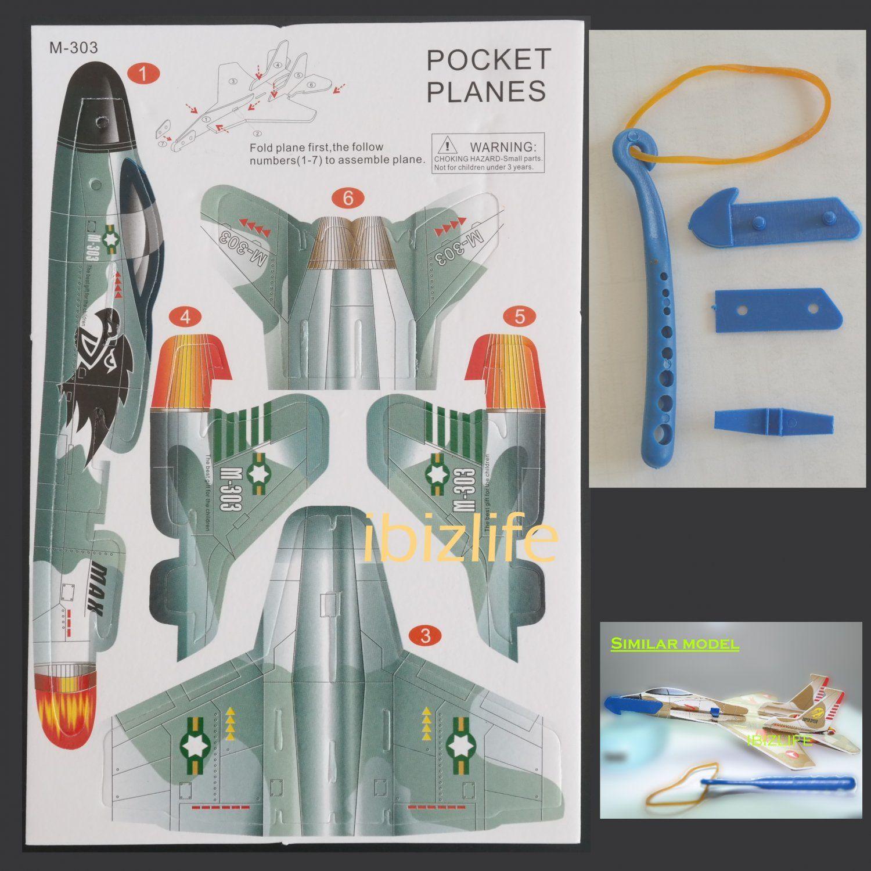3D DIY Paper model flying pocket planes as gift for children