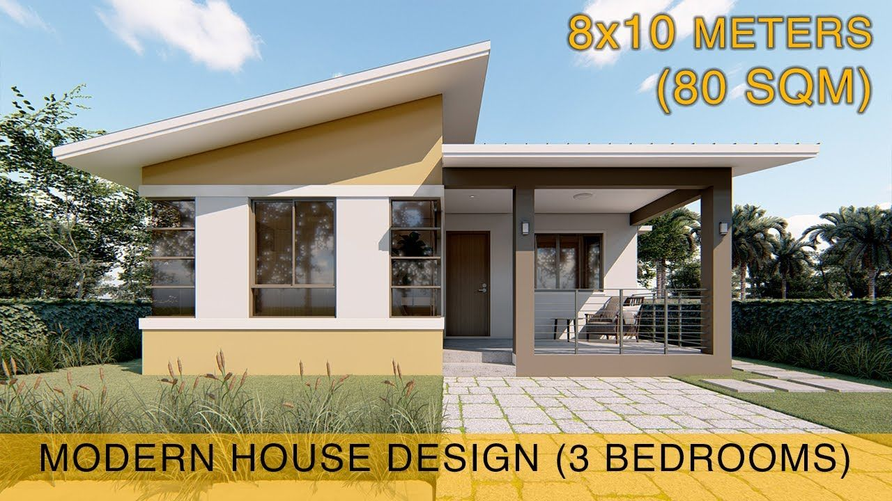 80 Sqm 3 Bedroom Small House Design Plans Modern Bungalow House Minimalis House Design