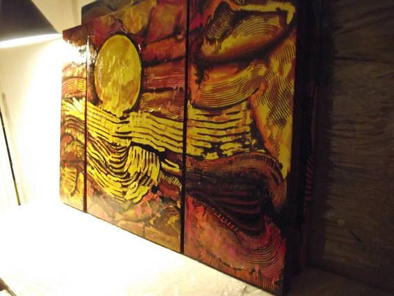 The Triptych With A Glosy FinishI Preparated For This Work