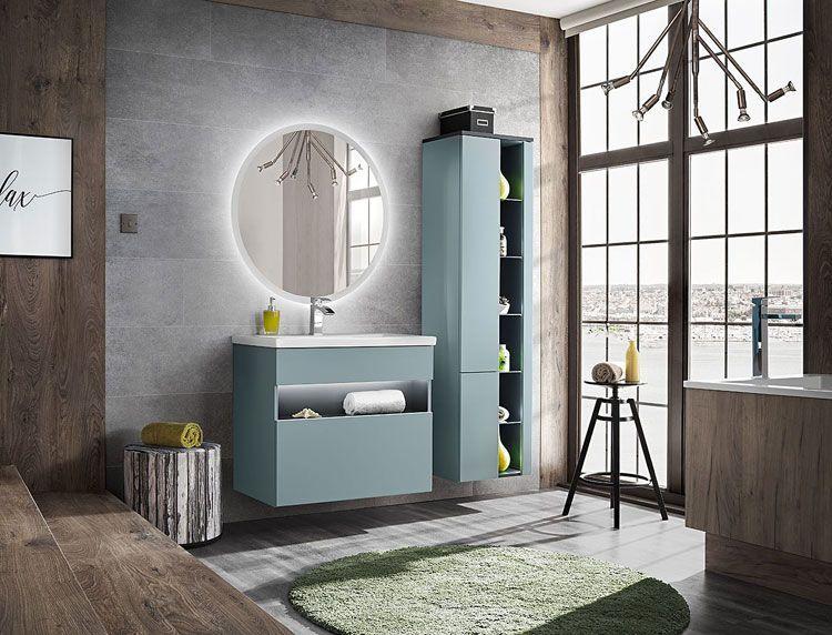 Zestaw Mebli Lazienkowych Z Oswietleniem Led Monako 2q 80 Cm Mieta Home Decor Home Bathroom Design
