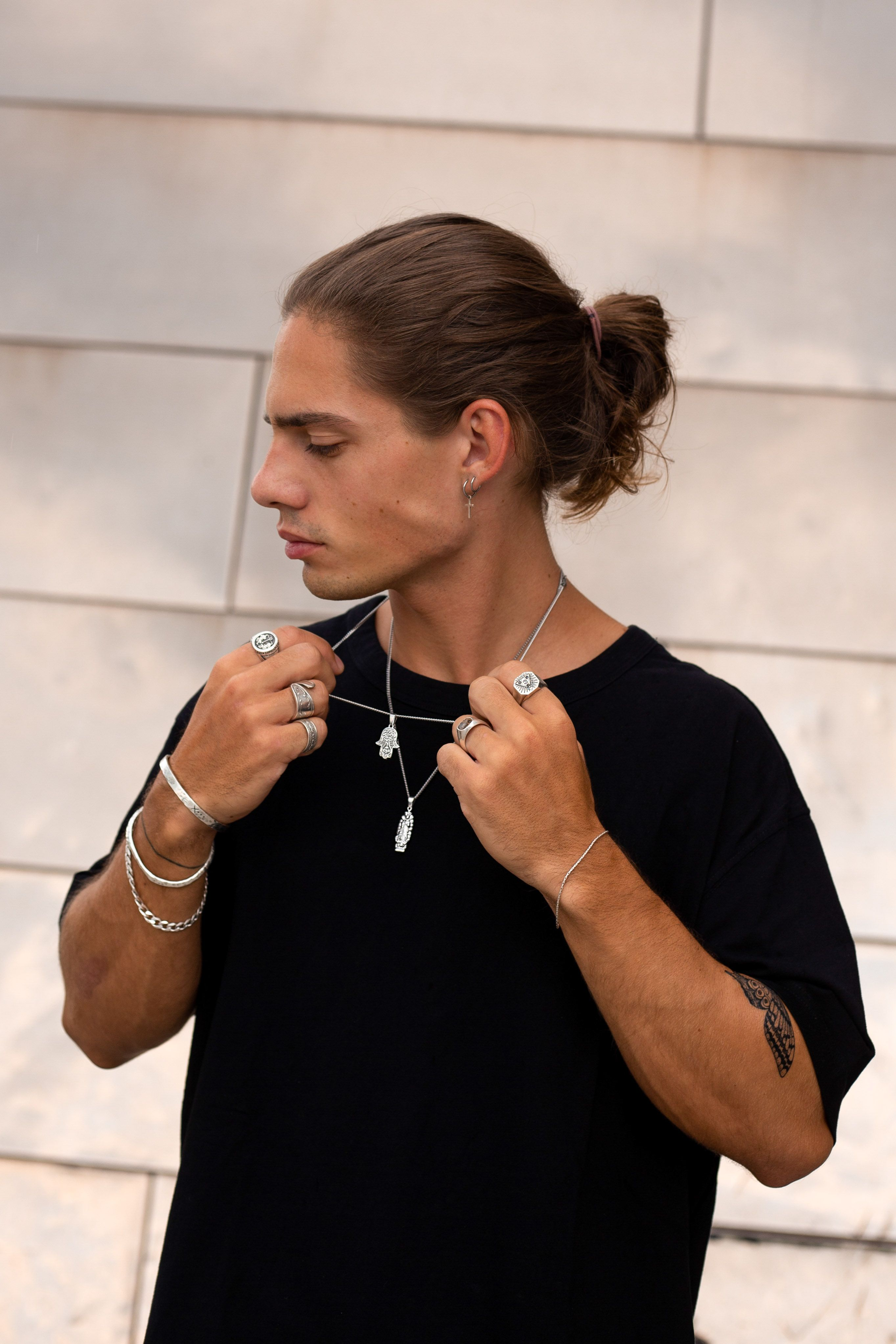 Men S Jewellery Pendant Necklaces Menswear Street Style Long Hair Styles Men Mens Street Style Style