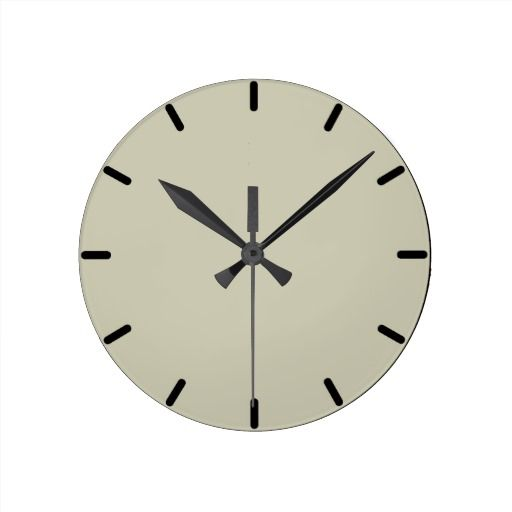 Solid Soft Fern color wall clock. Soft Fern is a nice paint color by Benjamin Moore.