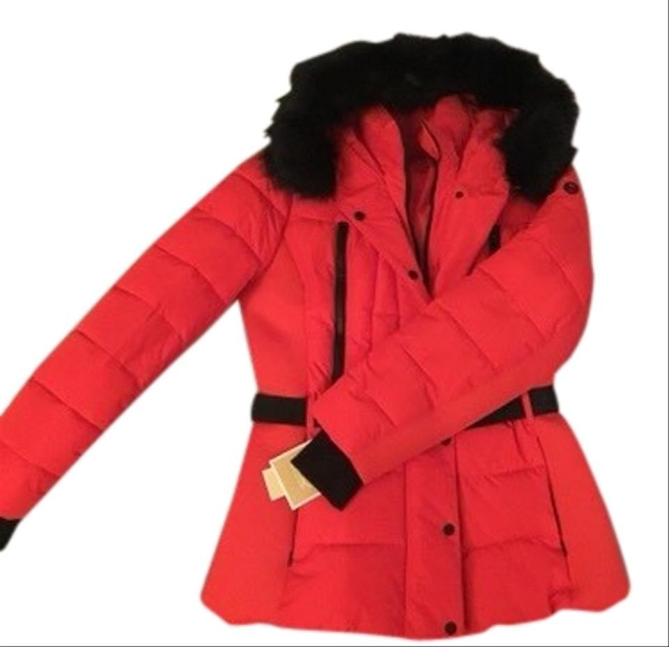 Michael Kors Red Black Mk Puffer Ski Jacket Coat Size 16 Xl Plus 0x Ski Jacket Jackets Faux Fur Trim Coat [ 929 x 960 Pixel ]