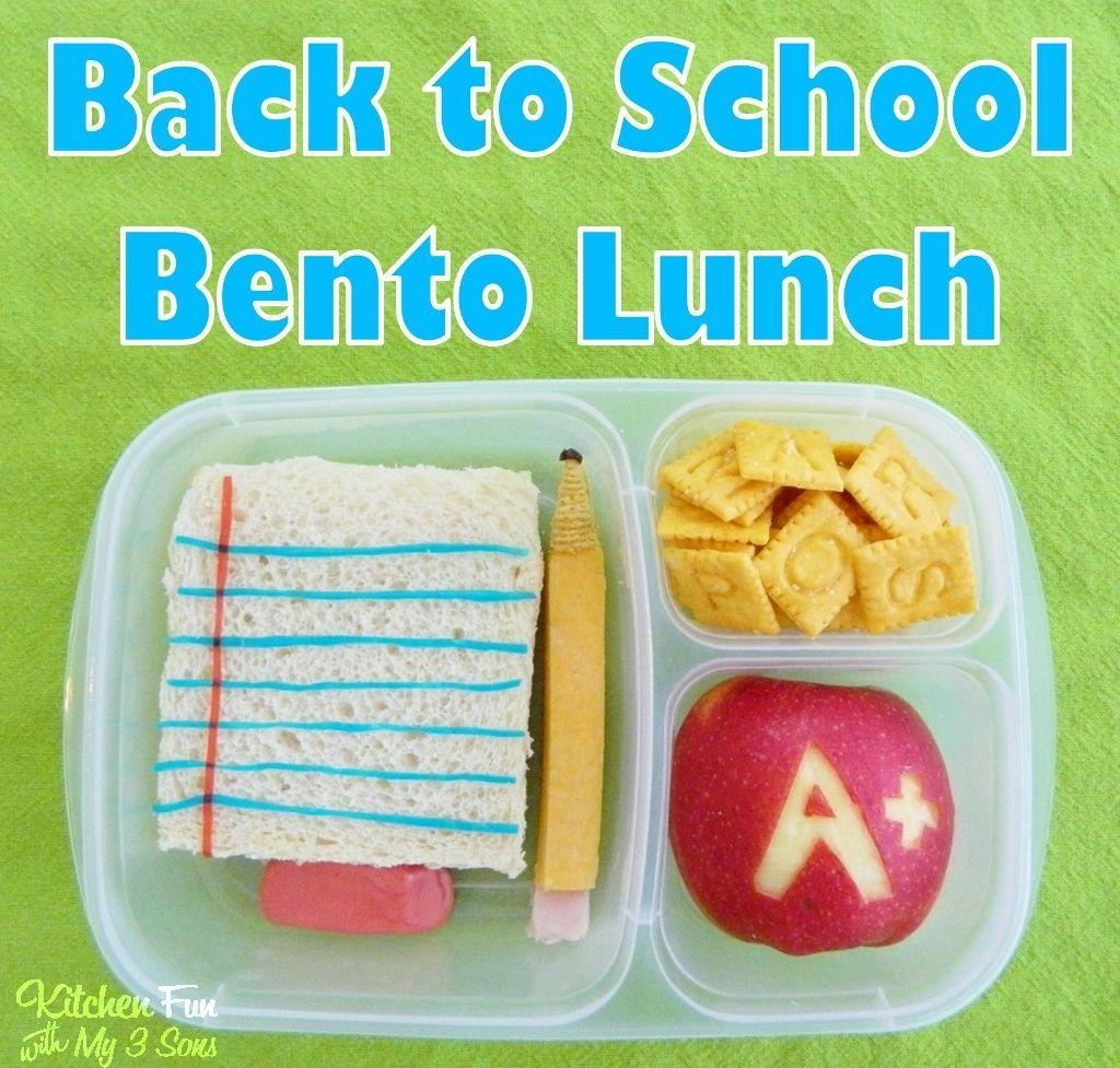 Back To School Bento Lunch Box Idea