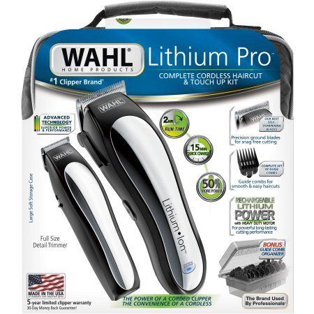 Wahl Lithium Pro Complete Cordless Haircut & Touch Up Kit, 23 pc