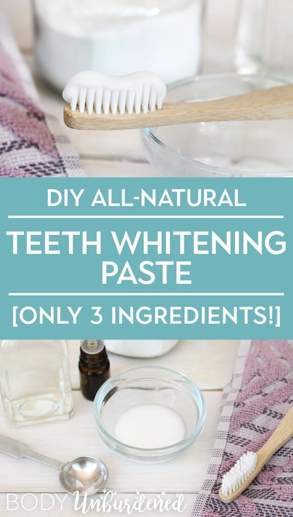 Looking to polish up those pearly whites naturally This DIY allnatural teeth whitening paste is made with just 3 ingredients and works like a charm