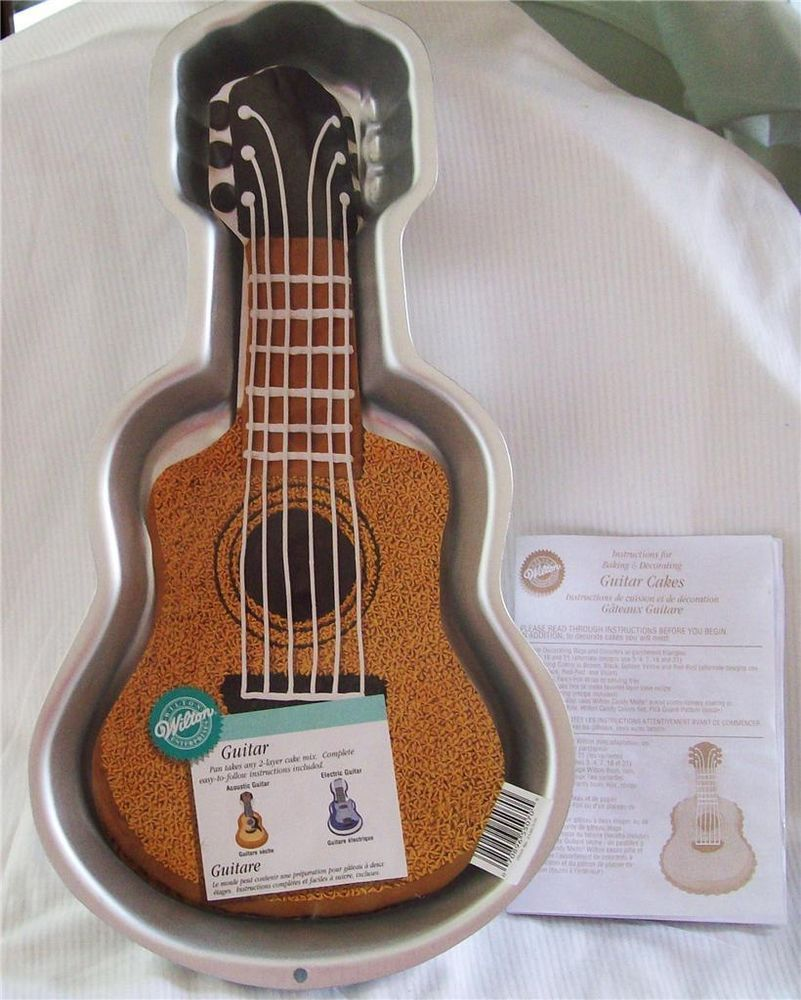 Wilton Guitar Cake Pan W Instructions For Acoustic Or