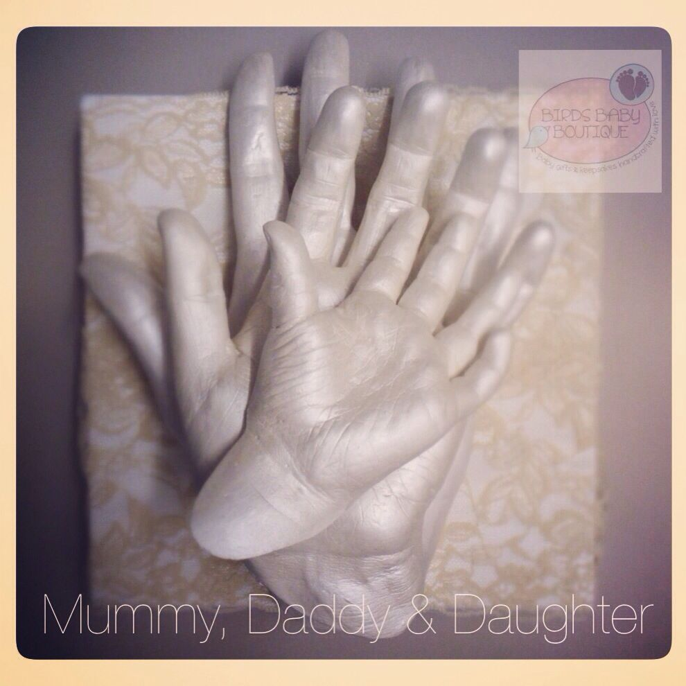 3D Baby Hand Foot Print Plaster Casting Kit Handprint Footprint Keepsake Gift SK