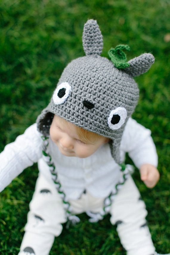 Totoro Hat Crochet Beanie Ghibli Kawaii My by BoochieBoomsBoutique ...