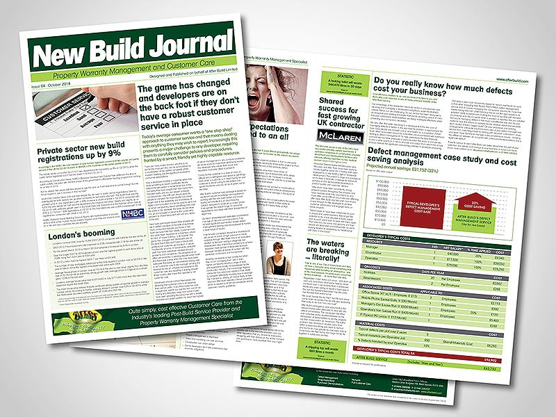 After Build Company Newsletter Design By Blueflamedesign