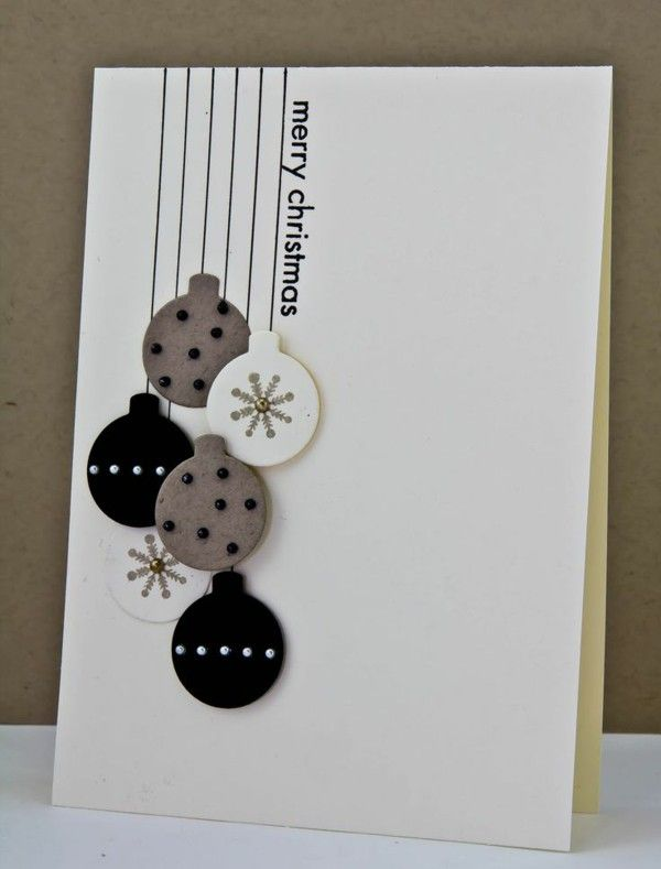 Craft ideas for Christmas Christmas cards paper Christmas baubles