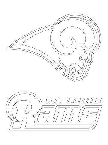 St. Louis Rams Logo Coloring page | coloring pages | Pinterest ...
