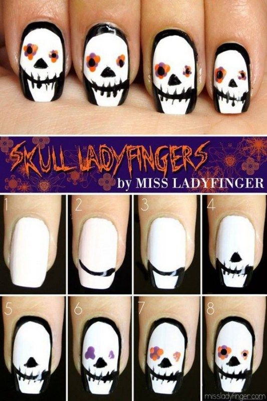 If youve been thinking about getting a tattoo but are keen to opt 20 step by step halloween nail art design tutorials solutioingenieria Choice Image