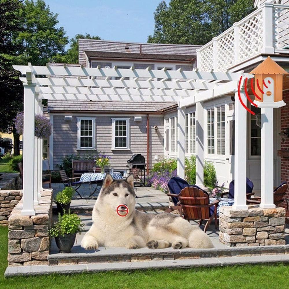 Aolvo Anti Barking Device 2018 Upgraded Ultrasonic Bark Control Training Tool No Barking Bark Stopper Pavilion Shape Safe For Smal Dogs Dog Barking Outdoor Dog
