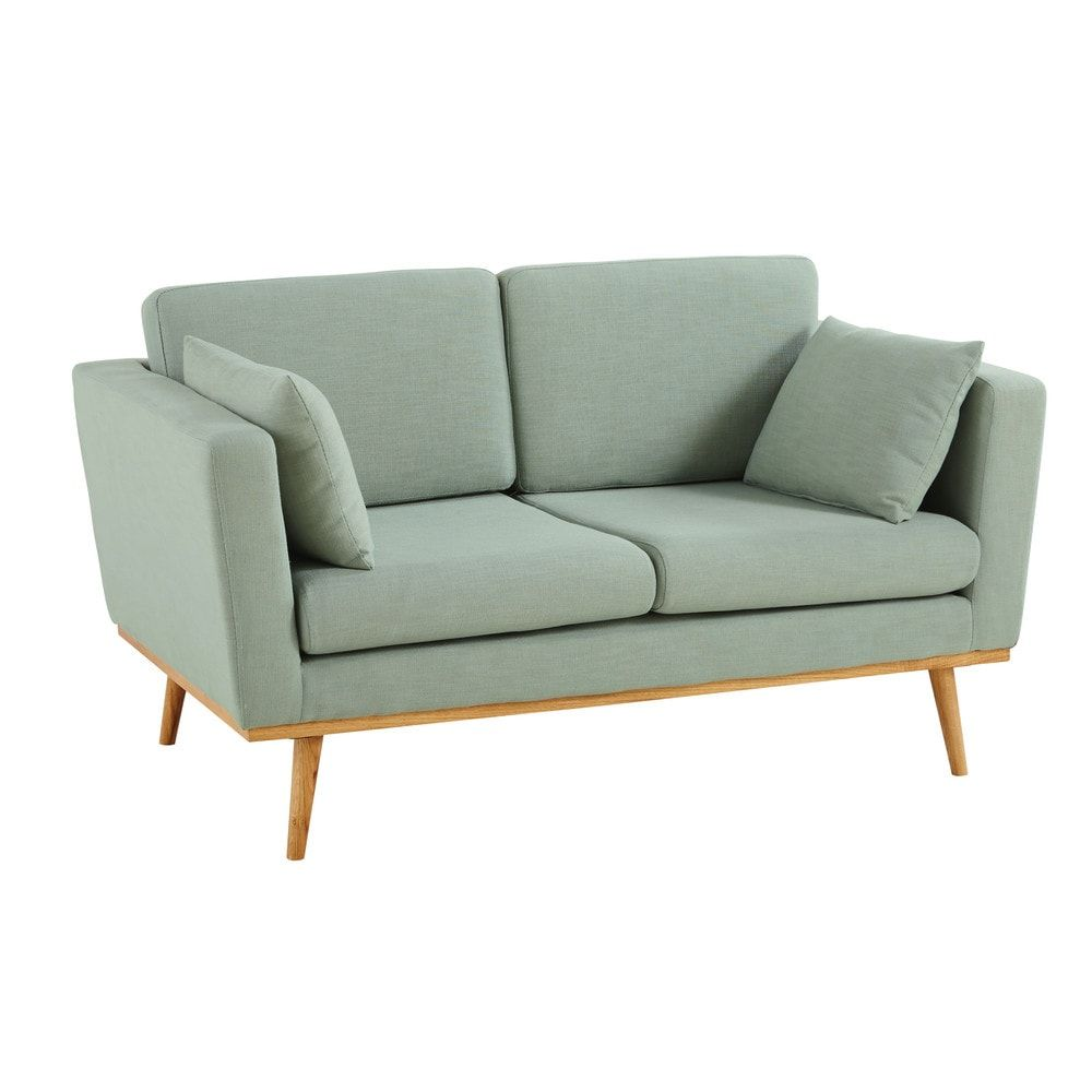 Lovat Green Vintage 2 Seater Sofa Maisons Du Monde Vintage Sofa Sofa Decor Sofa Design