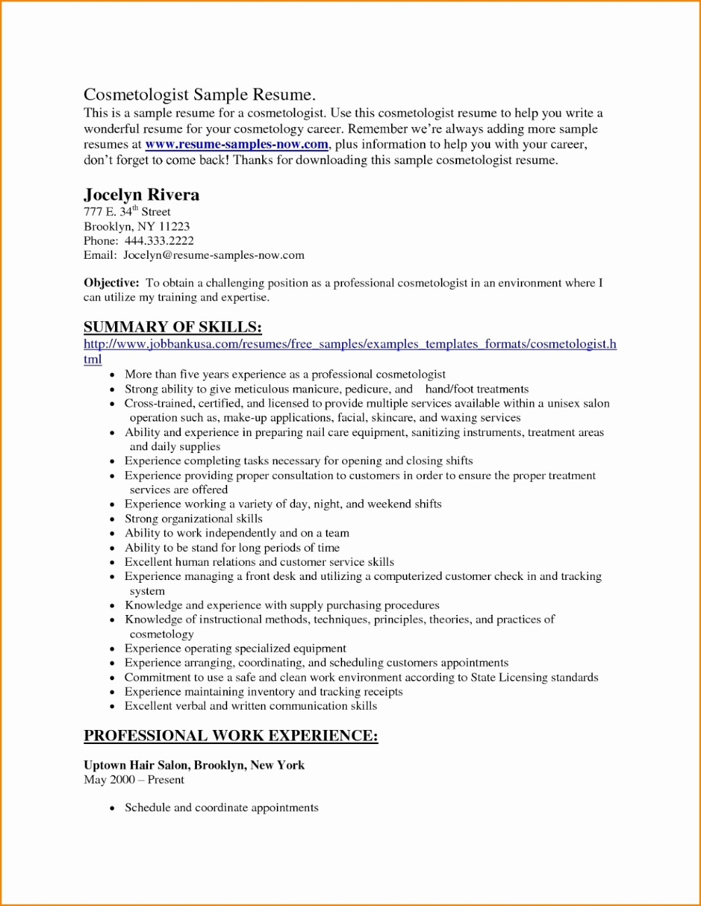 Resume Examples 2020 Entry Level | Summary For Resume ...