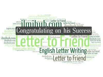 letter to your friend congratulating him on his success in examination