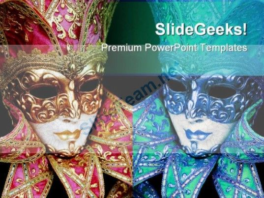 mardigras mask art powerpoint templates and powerpoint backgrounds, Powerpoint templates