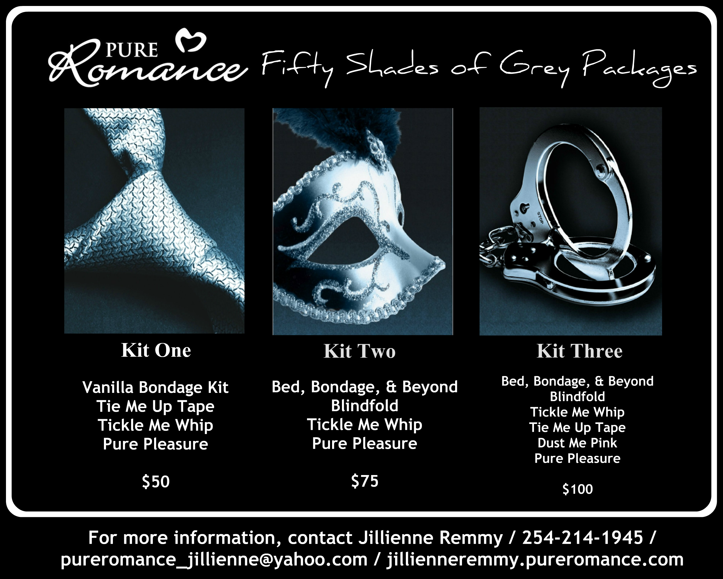 special fifty shades of grey pure r ce kits you could get 3 special fifty shades of grey pure r ce kits you could get one of these kits for simply by hosting a pure r ce party