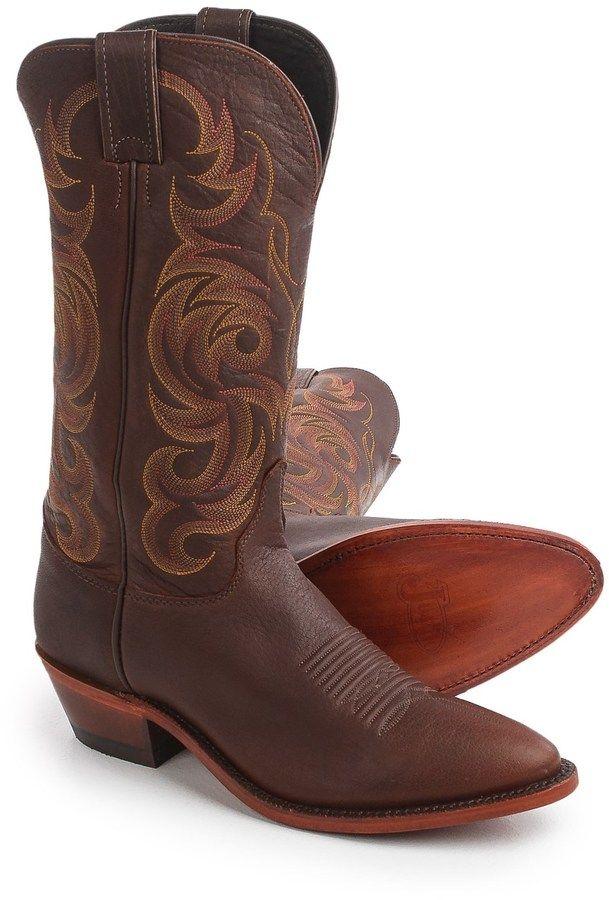 "84488c2a65b Justin Boots Bordo Moro Buffalo Cowboy Boots - 13"", J-Toe (For Men ..."