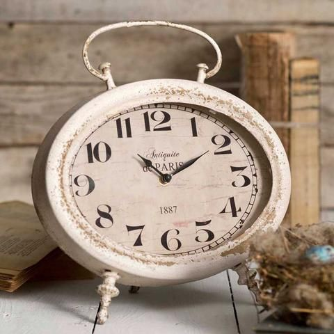 Oval Tabletop Clock Antiquite De Paris 1887 Looks Antique Mantel Home Decor Shabby Chic Room Shabby Chic Bedrooms Shabby Chic Diy