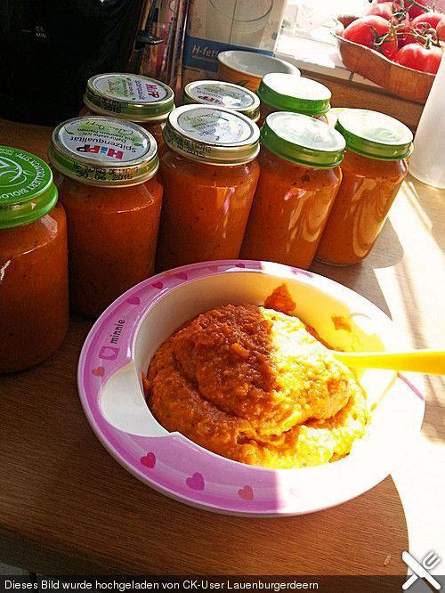 Spaghetti Bolognese für Babys  Babybrei