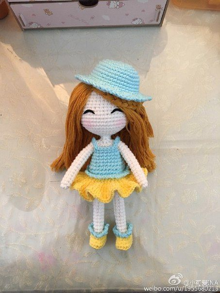 Amigurumi Girl-Free Pattern (Amigurumi Free Patterns) | Muñecas ...