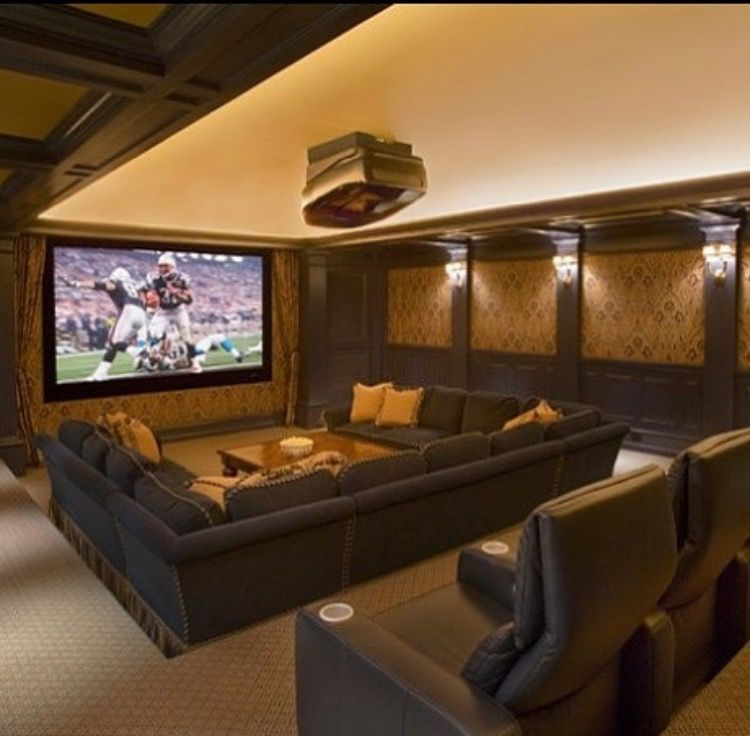 Like the big couch house pinterest big couch Theater rooms design ideas