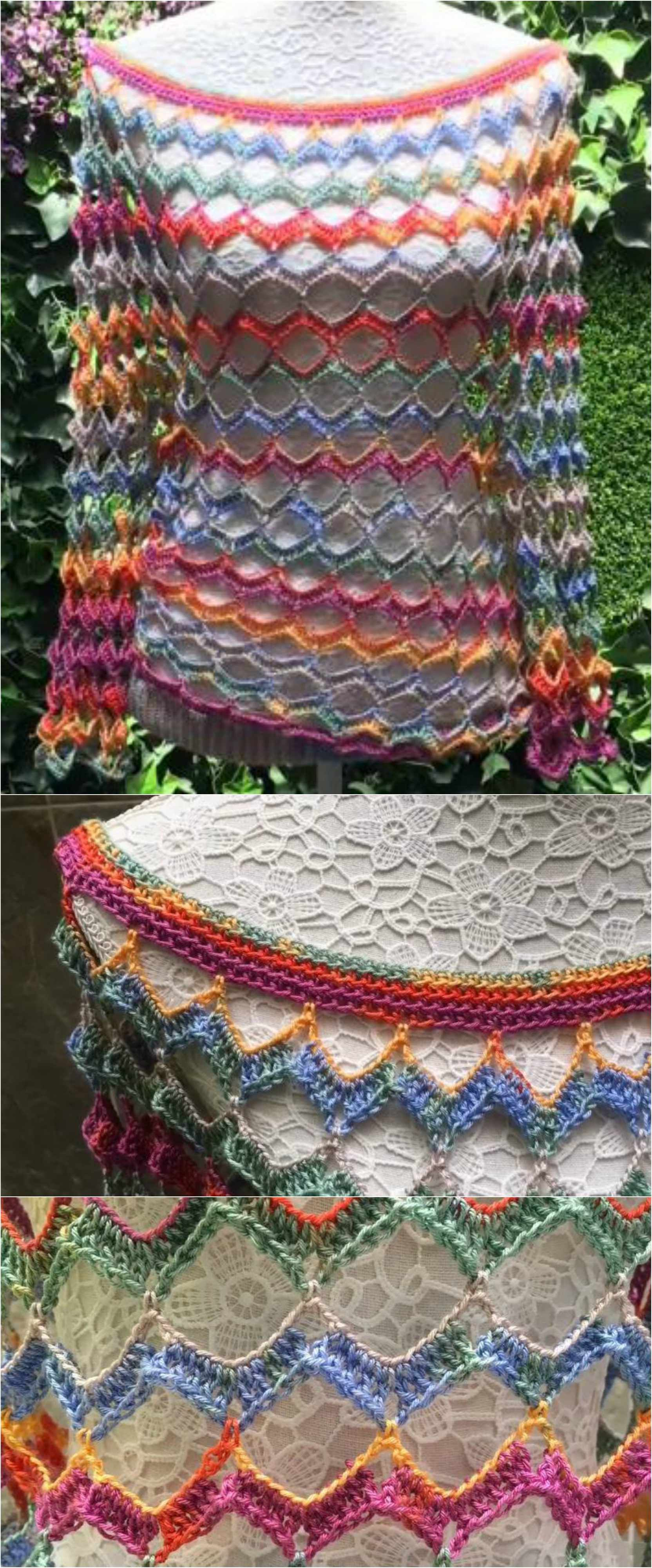 Crochet Light Colorful Blouse #blousesewingpattern