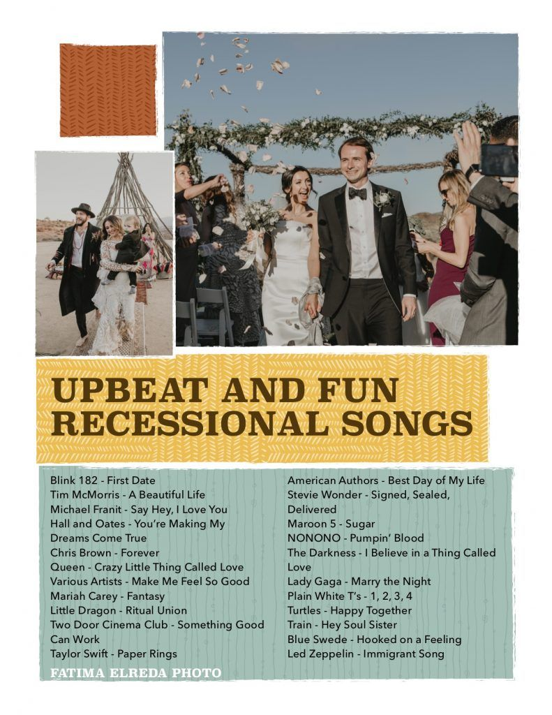 The Best Upbeat And Fun Recessional Songs By Fatima Elreda Photo In 2020 Recessional Songs Best First Dance Songs Wedding Love Songs