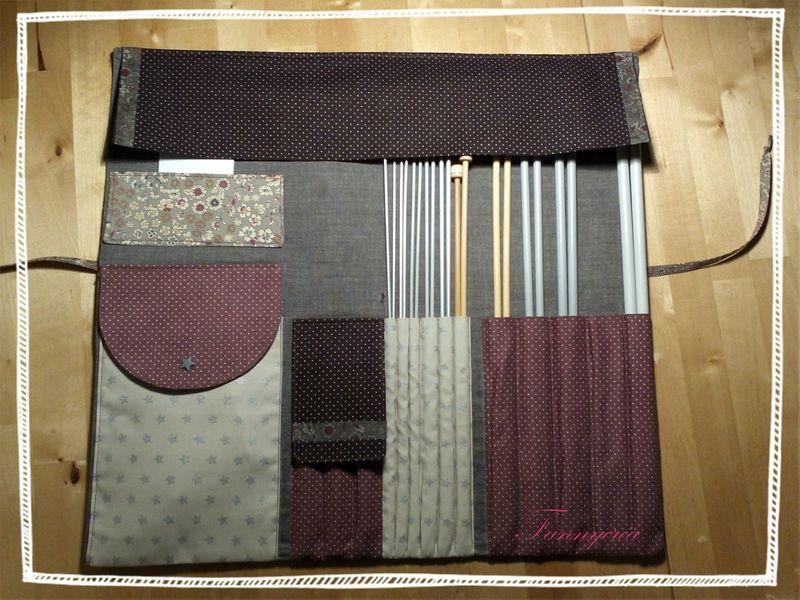 Rangement aiguilles à tricot - Trois perles sur un fil ... | Tricot, Idée couture et Projets tricots