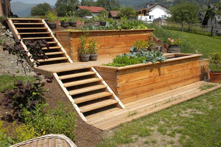 Bau Von Hochbetten Garten Hochbeet Garten Vorgarten