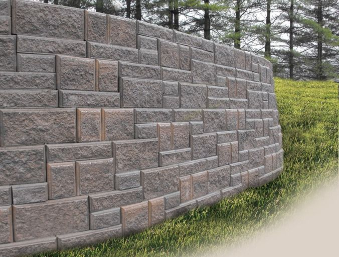 Block Wall Different Size Blocks Retaining Wall Fencing