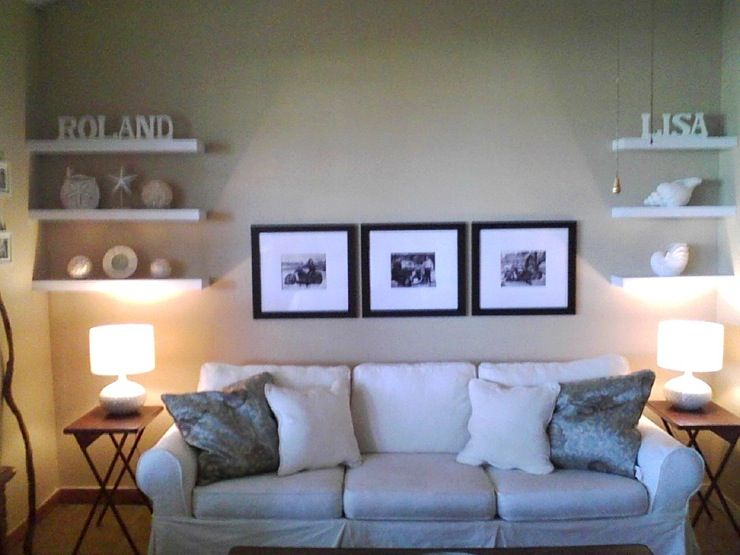 Good Floating Shelves + Wall Art For Wall Above Couch Part 32