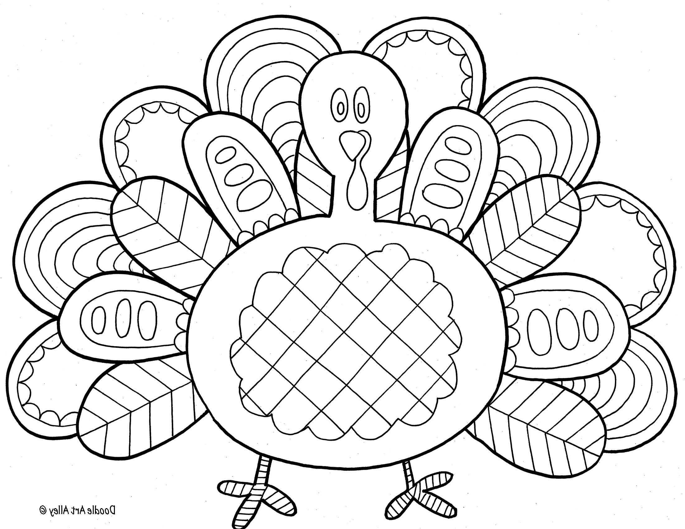 Free printable thanksgiving coloring pages coloring page