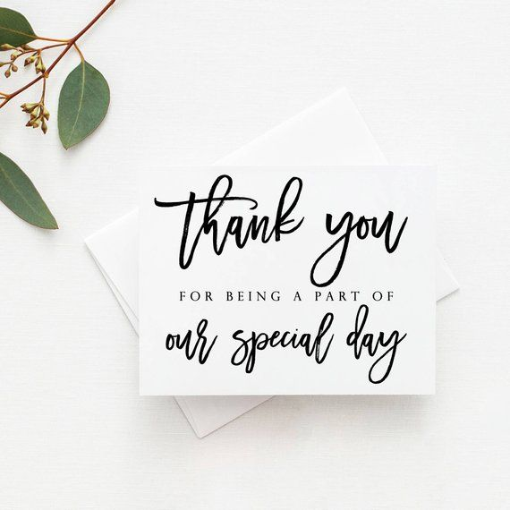 tell your loved ones or wedding vendors thank you with our