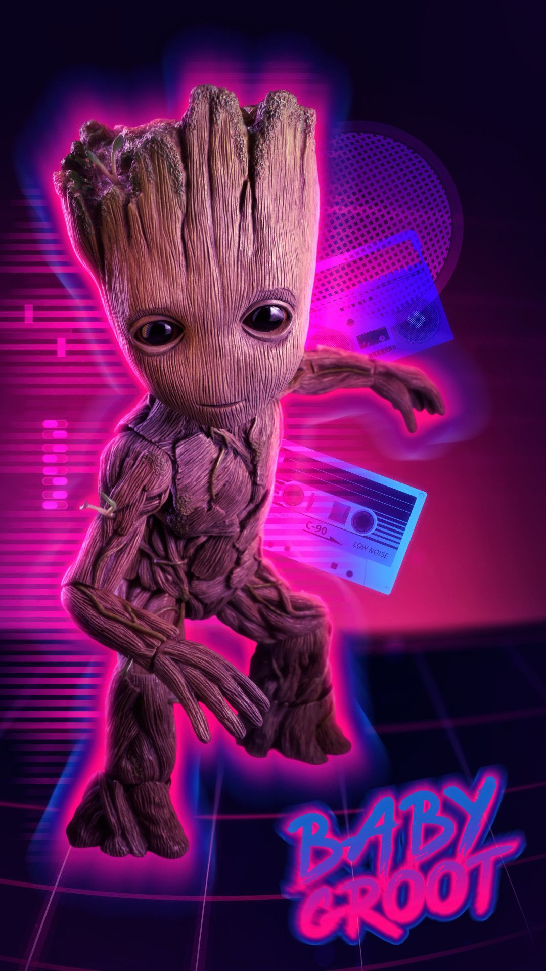 4k Baby Groot Mobile Wallpaper Iphone Android Samsung Pixel