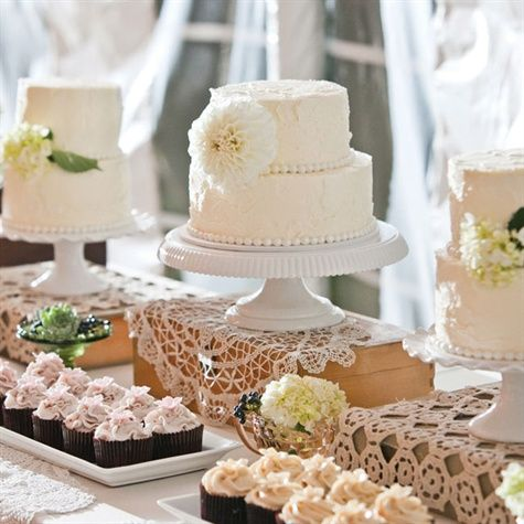 Wedding Dessert Display Instead Of Cupcakes Surrounded By Family Made Desserts Looks Like Cake Wedding Cake Table Wedding Cakes Vintage Outdoor Wedding Cake