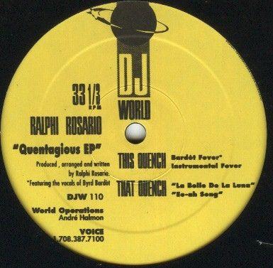 Ralphi Rosario - Quentagious EP