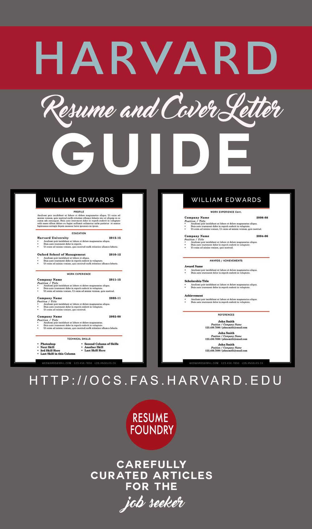 Action Words For Resume Harvard